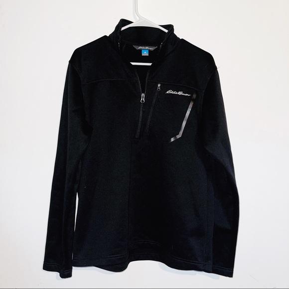 Eddie Bauer Black Quarter Zip Pullover